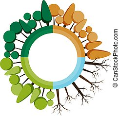 winter., τέσσερα , μικροβιοφορέας , άνοιξη , σημαίες , δέντρο , φθινόπωρο , εκτύπωση , websites , εποχές , icon., καλοκαίρι , illustrations.