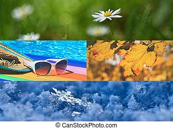 winter., 夏, 写真, nature., 4, 秋, 春, 季節