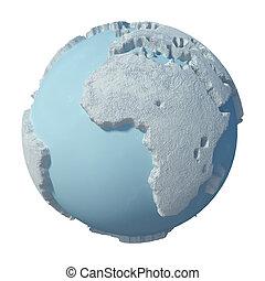 Winter 3D Concept Planet