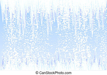 Winter - Abstract illustration of ice and snow