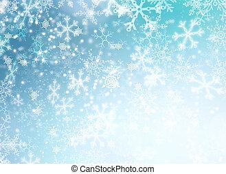 winter, abstract, sneeuw, achtergrond., vakantie, kerstmis, ...