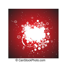 Winter abstract spots background