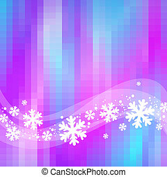 Winter abstract vector background with snowflakes