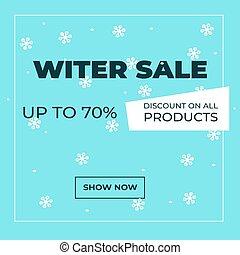 winter, achtergrond, illustratie, promotion.vector, vector, -, verkoop, seizoenen