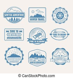 Winter Adventure Badges Set