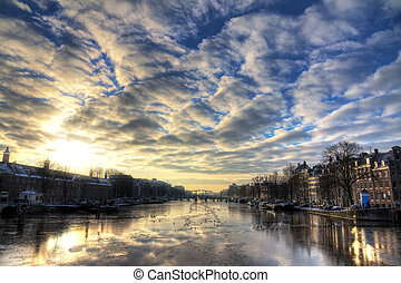 Winter Amstel cloudscape