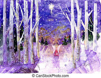 Winter Angel Peace Dove - This is my design that I created...