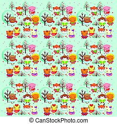 Winter animal backgroundeps8.eps