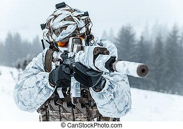 Winter arctic warfare - Winter arctic mountains warfare....