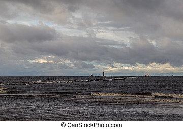 Winter at Baltic Sea in Riga