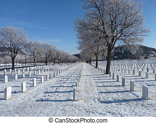 Winter at the National Cemetery