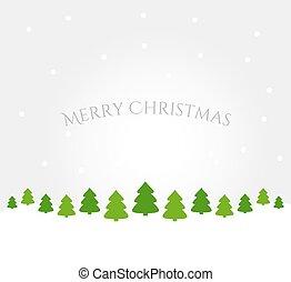 winter- bäume, hintergrund, landschaftsbild, weihnachten