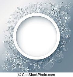Winter background abstract with snowflakes