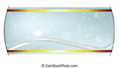 Winter Background Banner