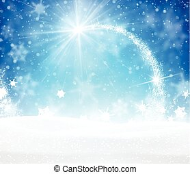 Winter background. - Blue winter background with snowflakes....