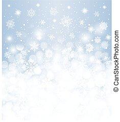 Winter background  blurred