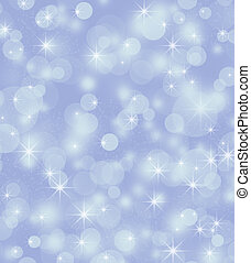 Winter background, bright bokeh background