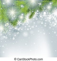 Winter Background - Christmas Illustration