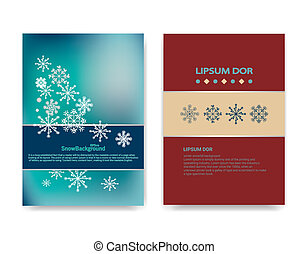 Winter background design of white snowflake with copy space...