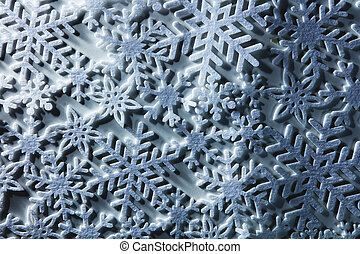 Winter background from snowflakes