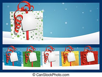 Winter Background - Gift with Label