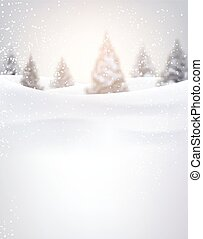 Winter background. - Winter background with fir-trees and...