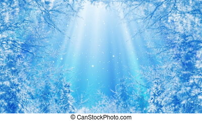 Winter background loop - Looped winter background animation...