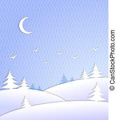 Winter background scene ice cold