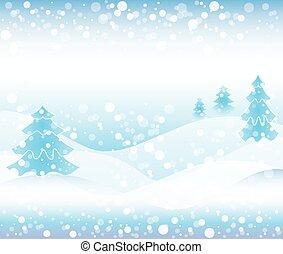 Winter background scene