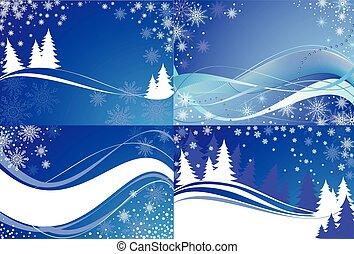 Winter background. Set