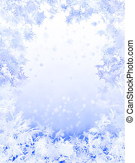 Winter background - Snowflake background