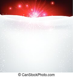 Winter background. - Red and white winter background. Vector...