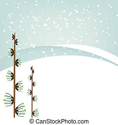 Winter background. Vector
