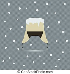Winter background, vector