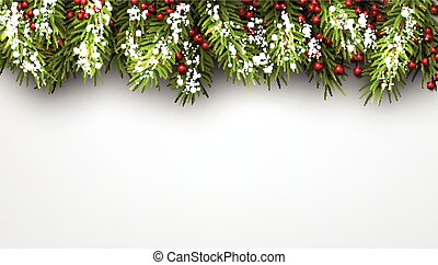 Winter background. - Winter background with fir branches.