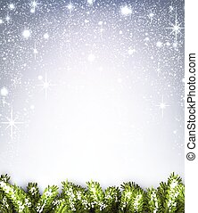 Winter background. - Winter background with fir branches. ...