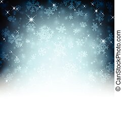 Winter background. - Winter background with snowflakes.