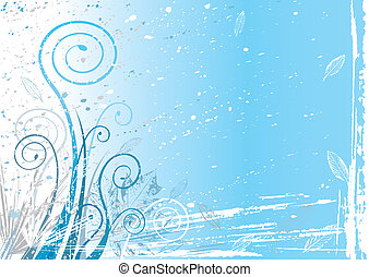Winter flora background, vector illustration layered.