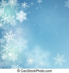Winter background - Winter frozen background with snowflakes