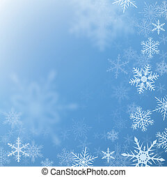 Winter background - Winter frozen background with snowflakes...