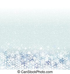 Winter background with blue snow scenery. File contains clipping mask, Gradient, Transparency, Gradient mesh.