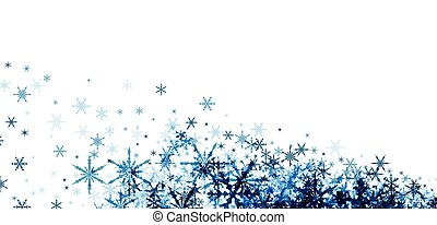 Winter background with blue snowflakes. - White winter ...