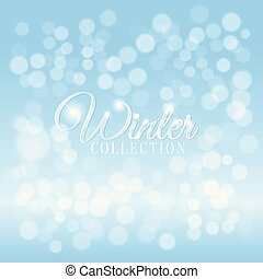 Winter background with bokeh effect.