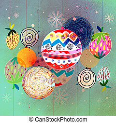 Winter background with Christmas balls - beautiful bright...