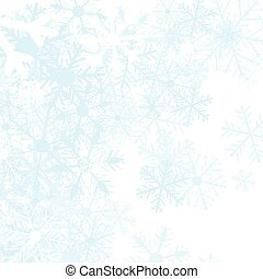 Winter background with snow flakes, vector