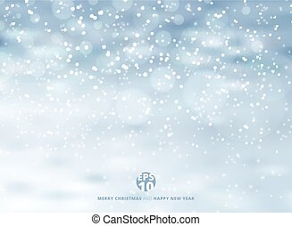 Winter background with snow on christmas holiday and new year. Vector illustration.