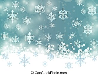 Winter background with snowflakes, abstract Christmas Background