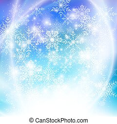 Winter background with snowflakes. Abstract winter design and website template, abstract pattern vector