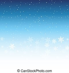 Winter background with snowflakes. Christmas holiday decoration