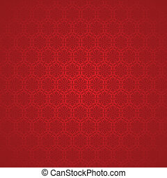 winter background with snowflakes - vector red seamless...